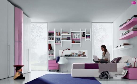 розовый интерьер комнаты для девочки, MisuraEmme