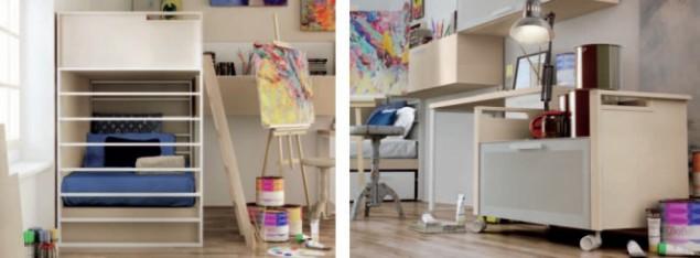 интерьер комнаты для подростка-художника