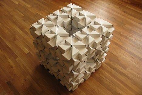 блок, мебель из картона
