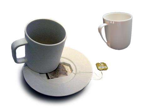 оригинальная чайная чашка и блюдце