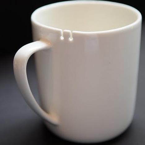 чашка чайная с прорезями для пакетика