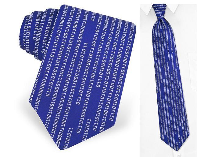 галстук - бинарный код