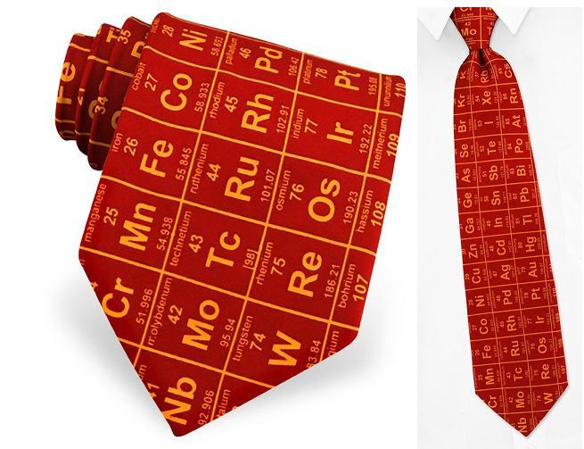 галстук - таблица Менделеева