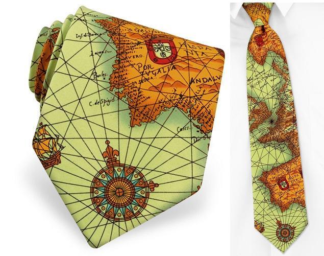 галстук - карта