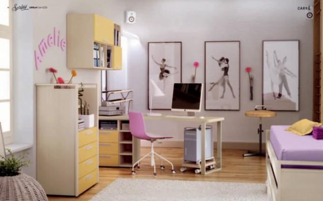 интерьер детской комнаты для юной балерины