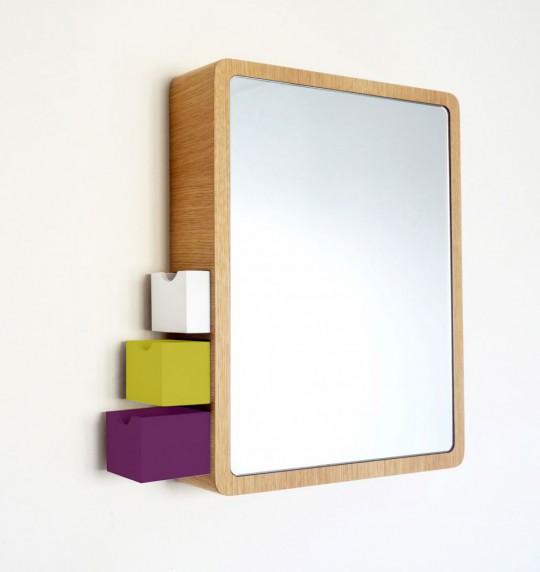 цветные ящики зеркала precious