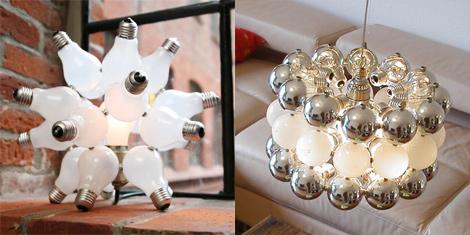 светильники из лампочек