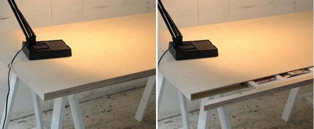 Как сделать тайник в компьютерном столе