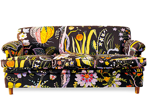 черный диван svenskt tenn