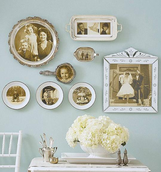 винтажные фотографии, декор стен своими руками