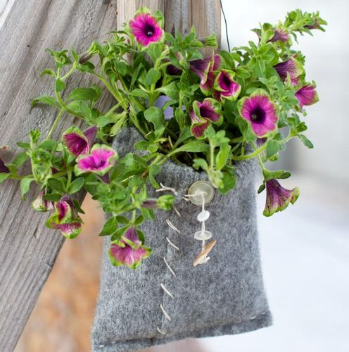 цветочный горшок из сумки