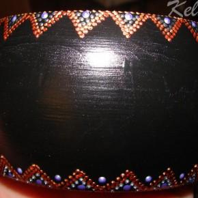 кайма, роспись контурными красками