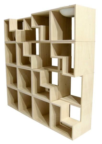 вид сбоку, книжный шкаф Cat Library