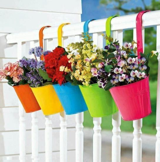 Фото висячие горшки для цветов