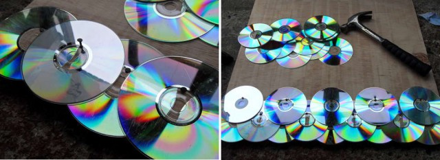 процесс укладки дисков