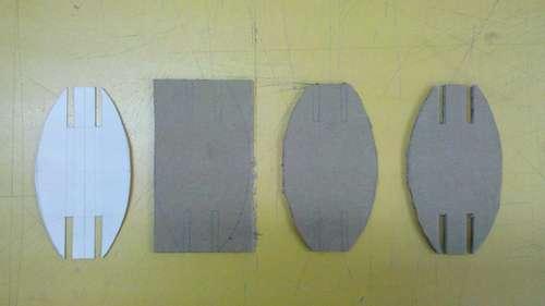 вырезание деталей C из картона