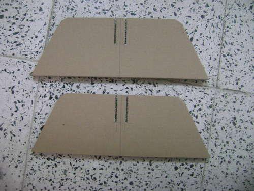 вырезание деталей E из картона