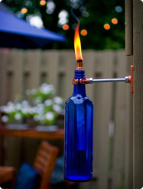 самодельный факел из бутылки