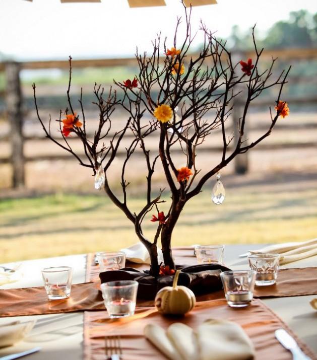 Дерево из ветки своими руками фото