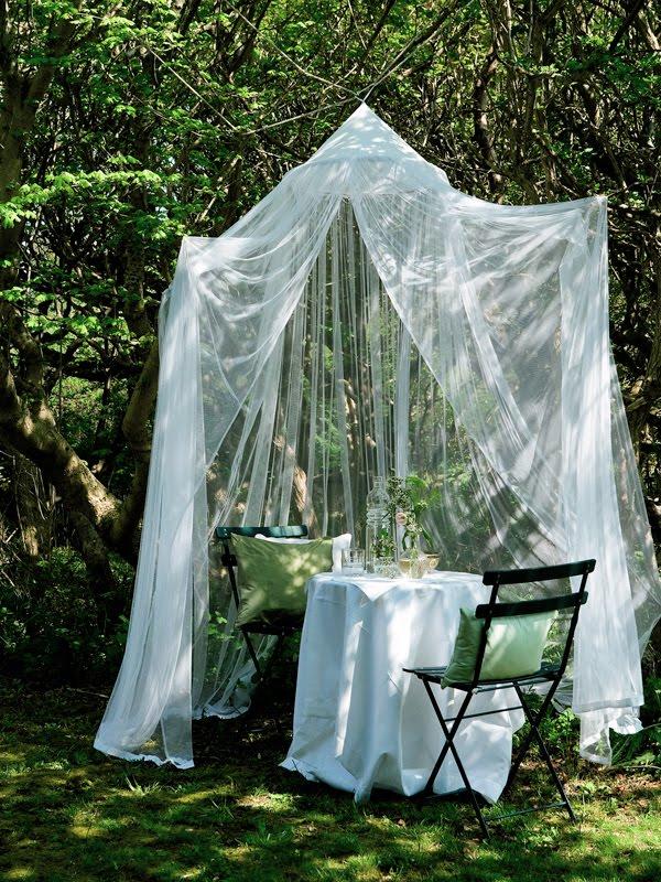 Садовые шатры своими руками