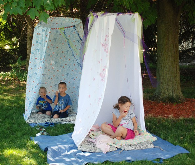 шатер для дачи своими руками