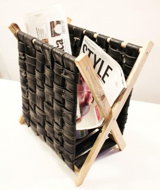 Подставка для журналов своими руками