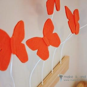 3D Эффект Бабочки: декор стены