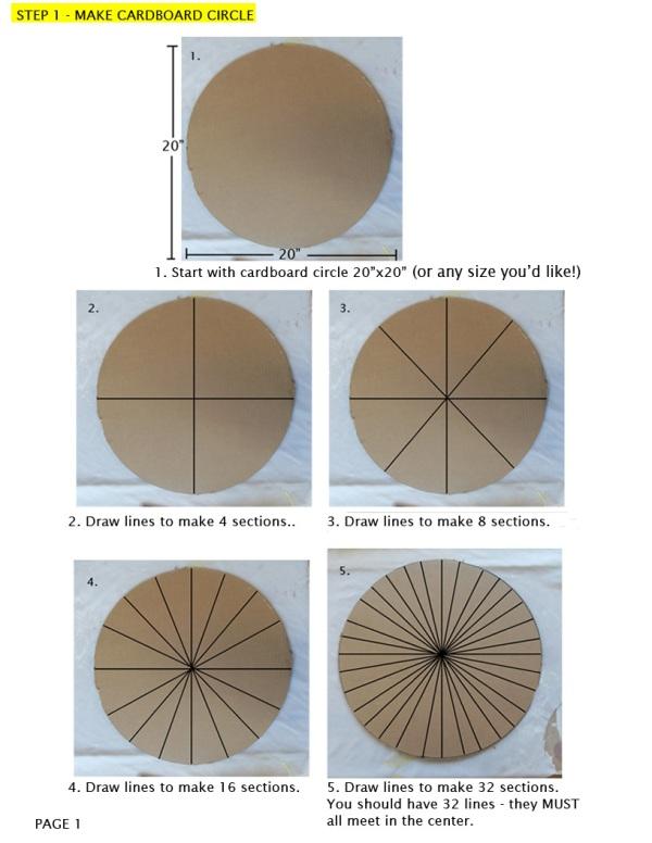 мастер-класс плетение круглого коврика шаг 1