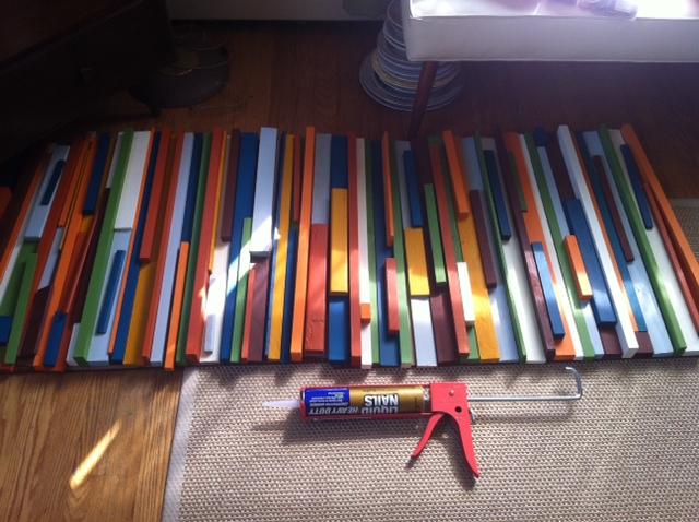 мастер-класс объемная картина из брусков и планок своими руками