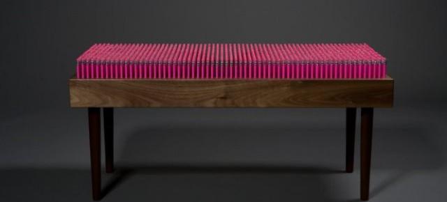 Скамейка из карандашей: мягкий массаж
