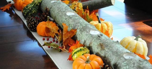 Осенний декор со свечами своими руками