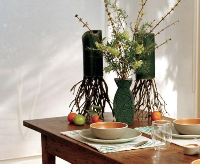 25 идей для вдохновения: ветки и листья в вазах