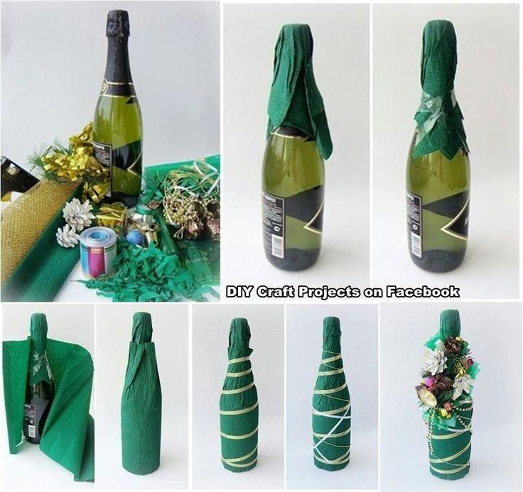 Подарок бутылка своими руками