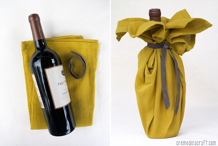 Упаковка для бутылки своими руками