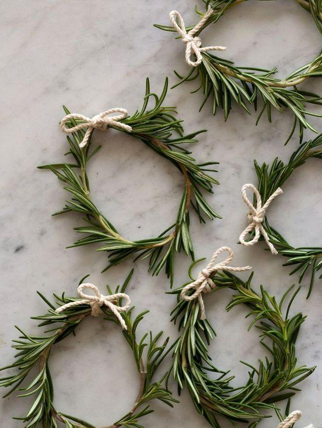 новогодние веночки из зелени