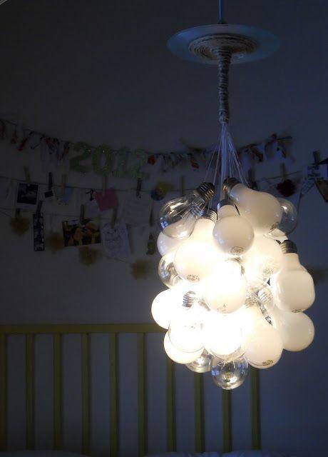 светильник из лампочекн акаливания