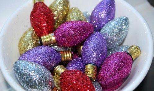 елочные украшения из лампочек