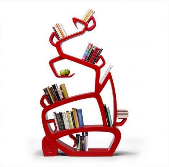 книжные полки необычной формы