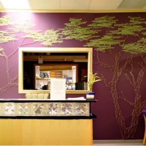 Дерево из пряжи: удивительный декор стены