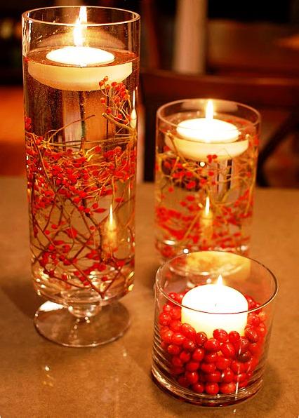 Декор свечей к новому году