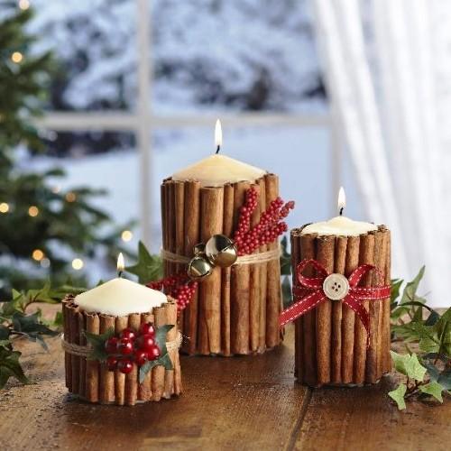 Новогодние свечи декор своими руками