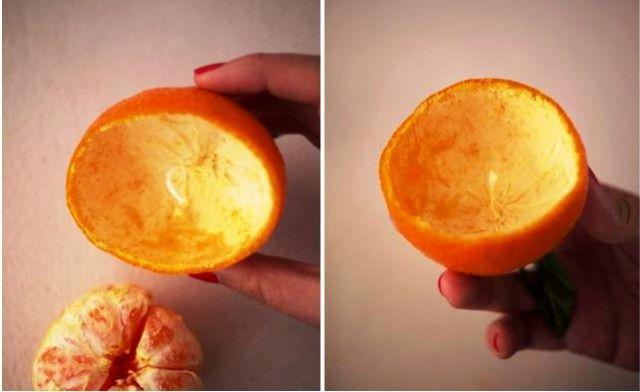 свечи из мандарина своими руками
