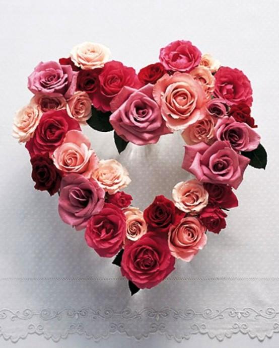 декор цветами на день влюбленных