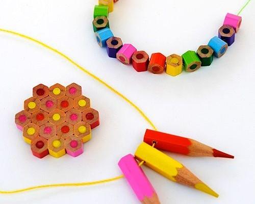 украшения из карандашей своими руками