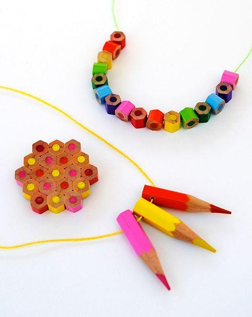Украшения из цветных карандашей своими руками