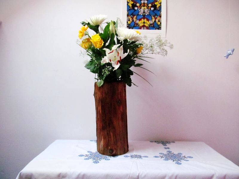 ваза из пня своими руками