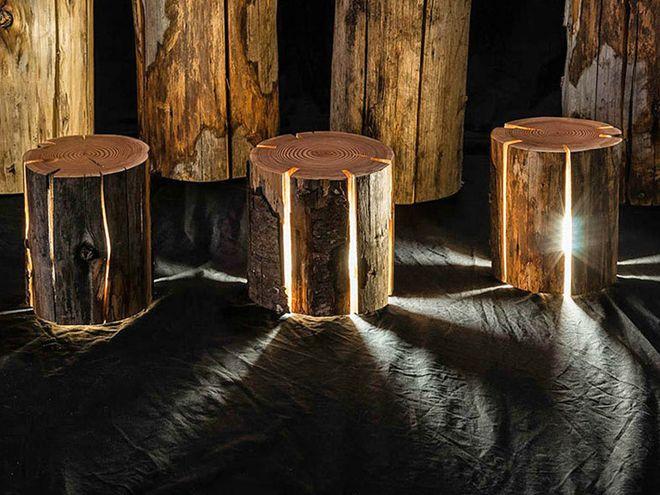 светильники из пней duncan meerding