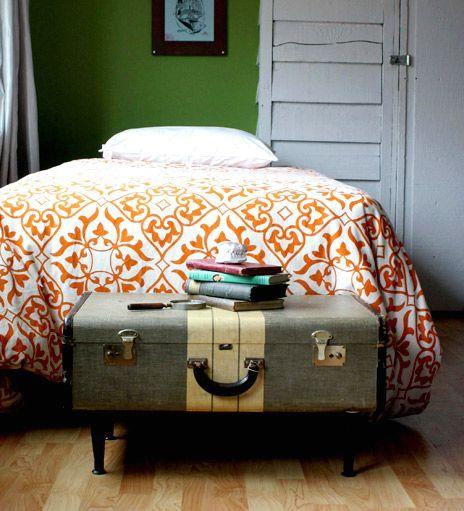 прикроватная тумбочка из старого чемодана