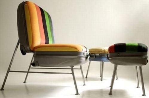 кресла из чемоданов