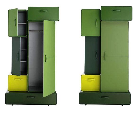 шкаф из чемоданов Maarten De Ceulaer